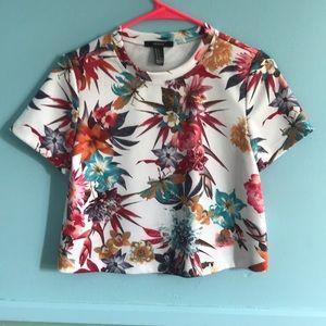 White/floral t shirt